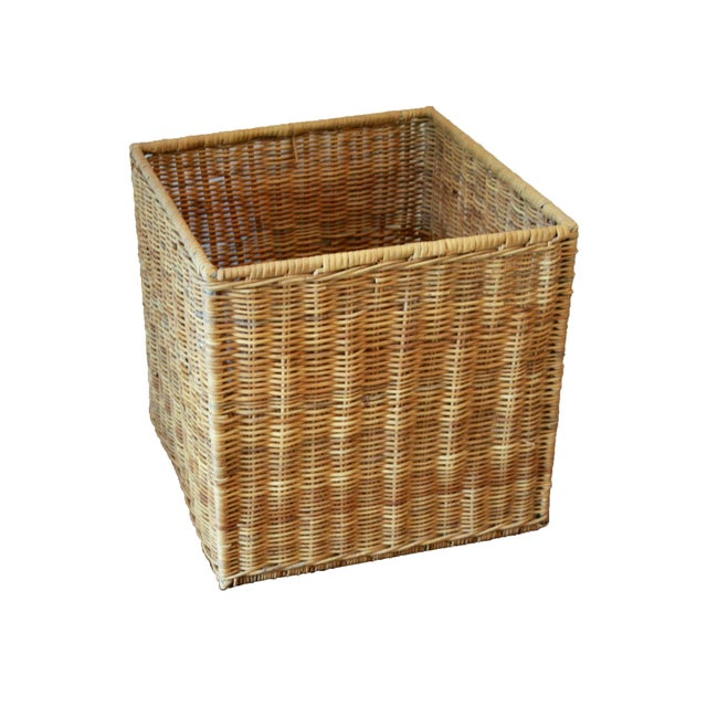 Modernist Wicker Cube Planter / Side Table For Sale - Image 13 of 13