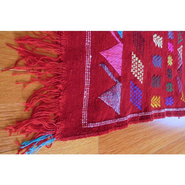 Moroccan Berber Motifs & Animals Rug - 1′8″ × 3′ - Image 4 of 8