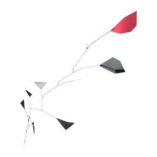 Red Black White Polygon Mobile