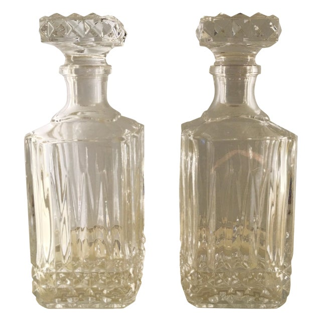 Diamond Glass Decanters - Image 1 of 8