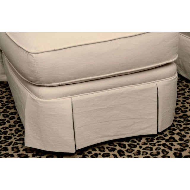 Ivory Tufted Swivel Chair For Sale - Image 5 of 9