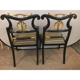 Neoclassical Style Ebonized & Brass Mounted Dining Chairs Jansen - Set of 6 Preview