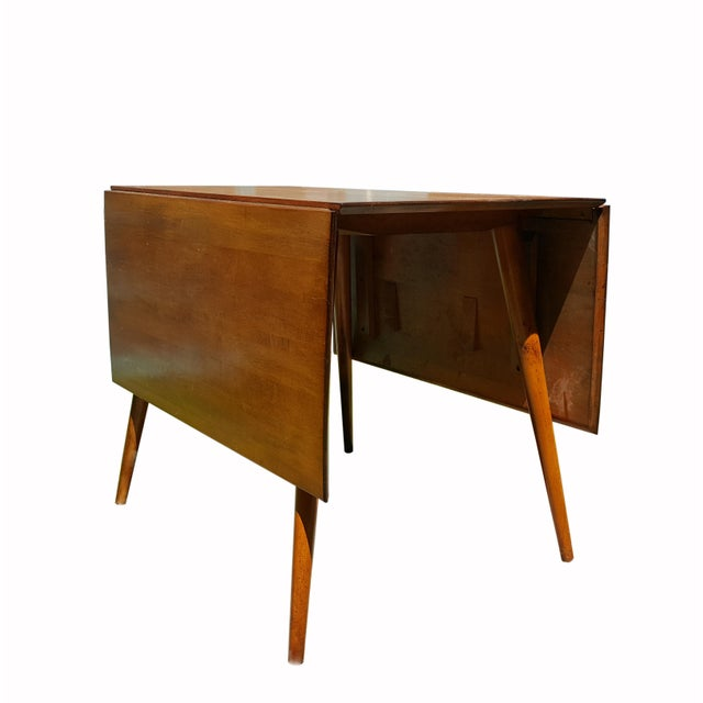Wood 1950s Mid Century Modern Paul McCobb Planner Group Drop-Leaf Dining Table For Sale - Image 7 of 11