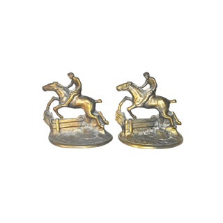 """Hubley """"Whipper In"""" Bookends - A Pair"""