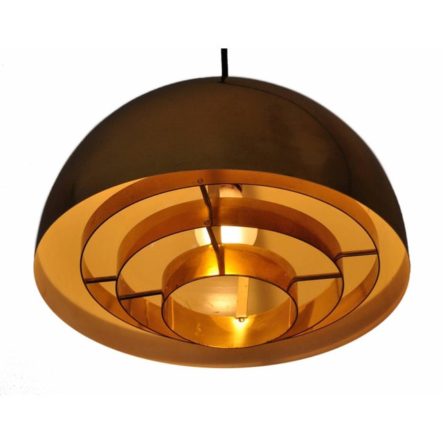 Brass Pendant Lamp by Vereinigte Werkstatten Munchen, 1960s For Sale - Image 4 of 10