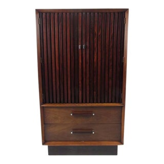 Mid-Century Modern Rosewood and Walnut Dresser by Lane For Sale