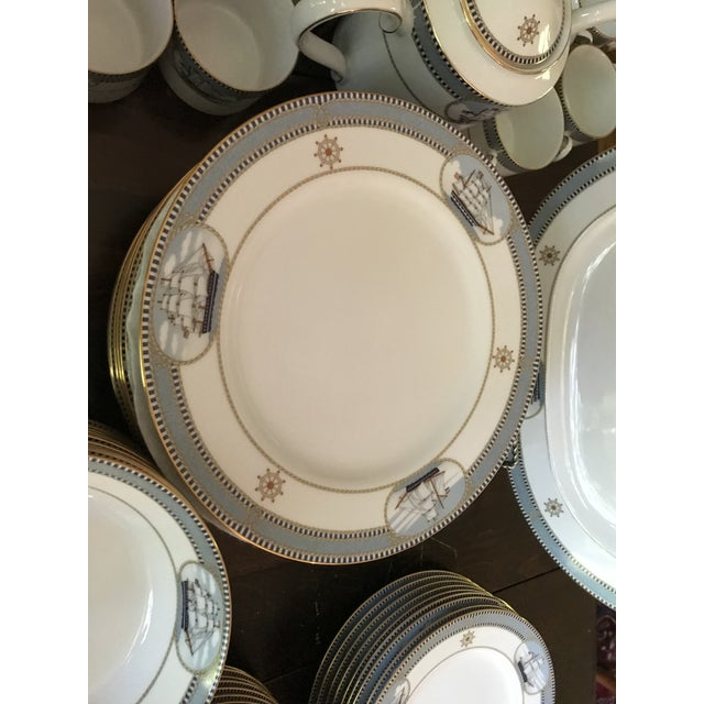 Traditional 1980s Vintage Noritake High Sails Fine China - Set of 78 For Sale - Image 3 of 13