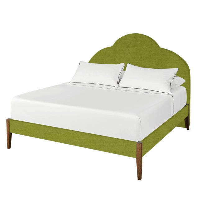 Textile The Crown Bed - King - Kate - Como, Kelly Green For Sale - Image 7 of 7
