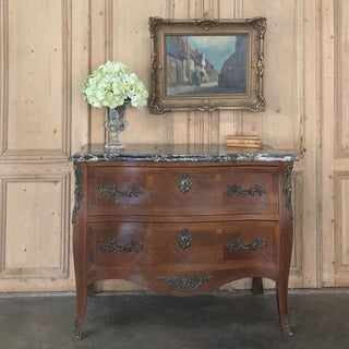 Antique Italian Rococo Marquetry Marble Top Commode Preview