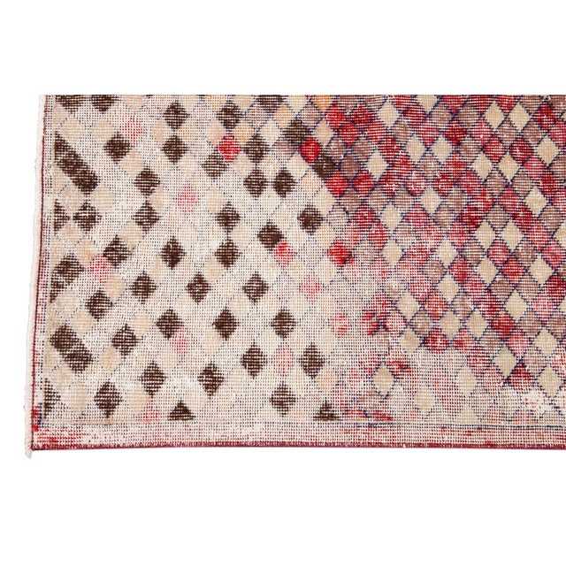 Mid 20th Century Vintage Art Deco Wool Runner Rug For Sale In New York - Image 6 of 12
