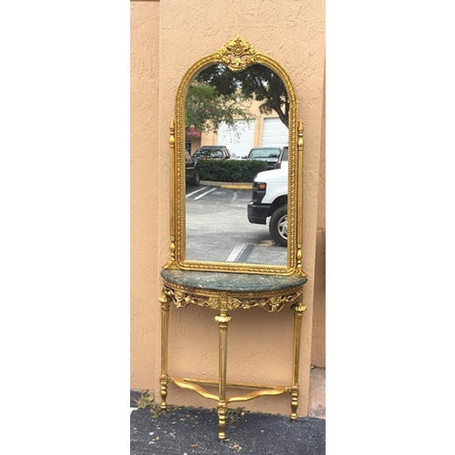 Louis XVI Style French Console & Mirror - Image 2 of 5