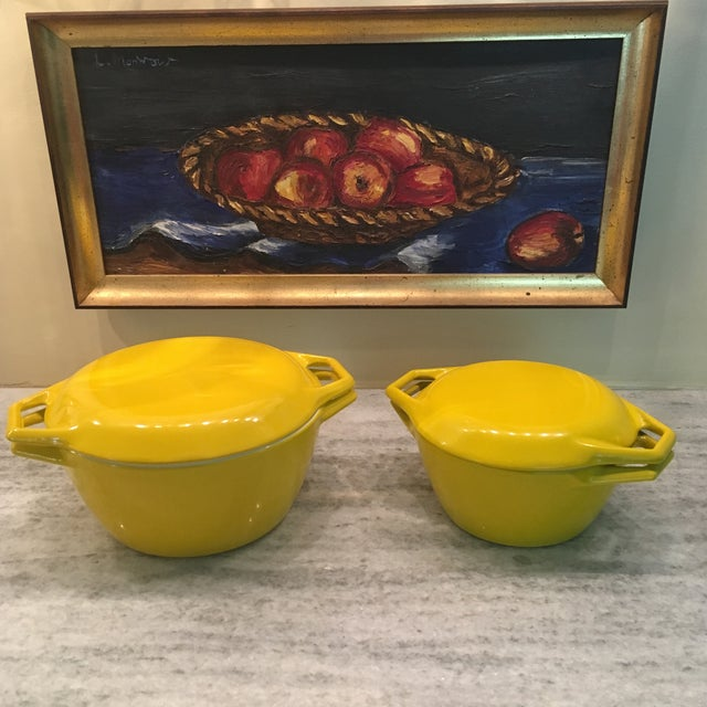 Yellow Danish Copco Enamelware by Michael Lax - A Pair For Sale - Image 12 of 12