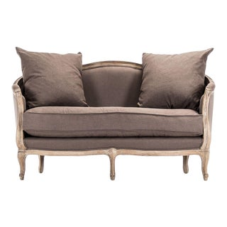 Hollow Maison Settee in Aubergine For Sale