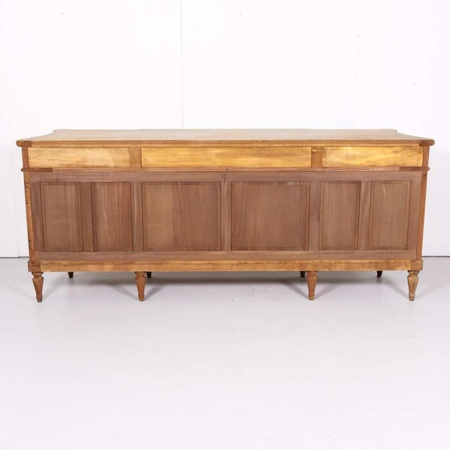Antique French Louis XVI Style Bleached Walnut Enfilade Buffet For Sale - Image 12 of 13
