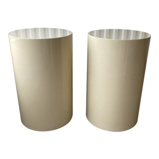 Lacquered Matching Paul Mayen for Intrex Habitat Pedestal - a Pair For Sale