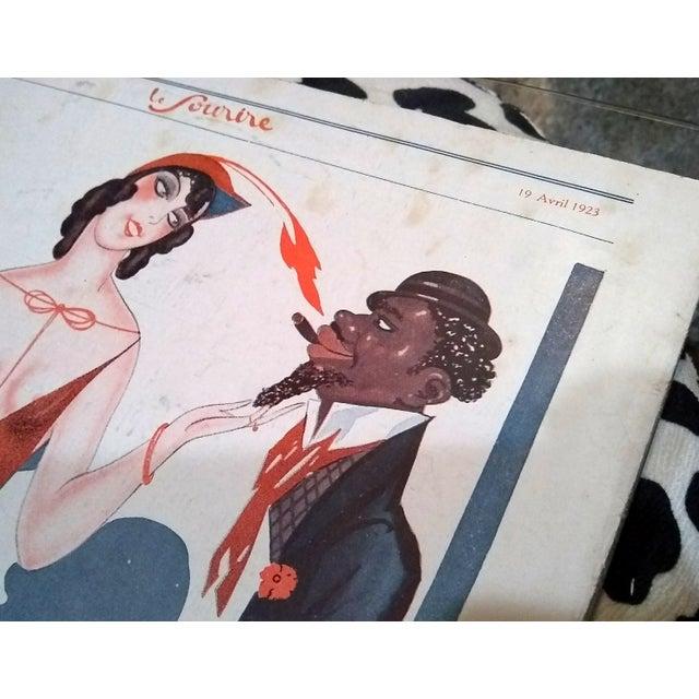 """Sacha Zaliouk 1923 """"Le Blanc Et Le Noir"""" Le Sourire Print - Image 5 of 6"""