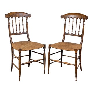 19th Century Rosewood Side Chairs- A Pair For Sale