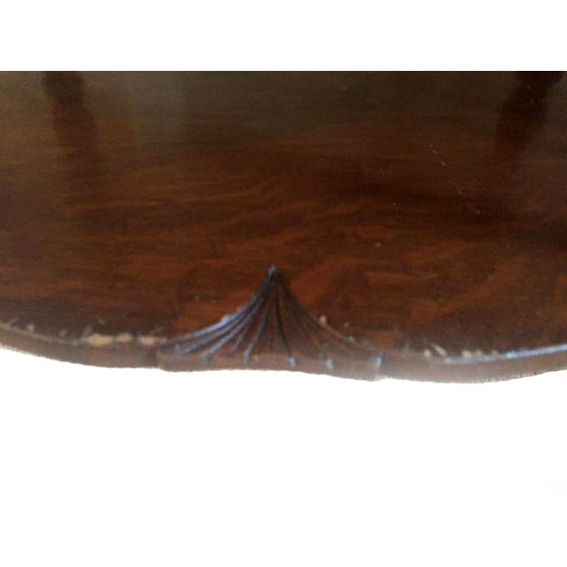 Oak Barley Twist Entryway Hall Table For Sale - Image 4 of 4