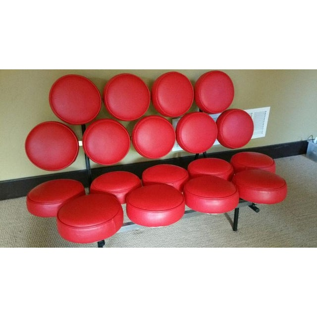 France & Son Red Marshmallow Sofa - Image 2 of 5