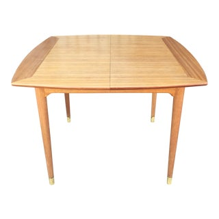 Brown Saltman Dining Table by John Keal For Sale