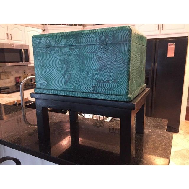 1960s 1960s Vintage Faux Malachite Box For Sale - Image 5 of 9