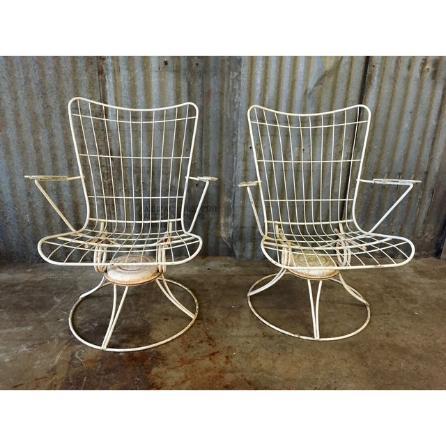 Vintage Homecrest Swivel Chairs - A Pair - Image 2 of 11
