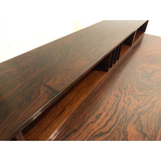 Peter Lovig Nielsen Flip Top Rosewood Desk For Sale - Image 11 of 13