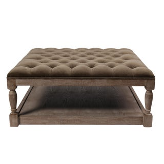 Blink Home Voltaire Tufted Ottoman For Sale