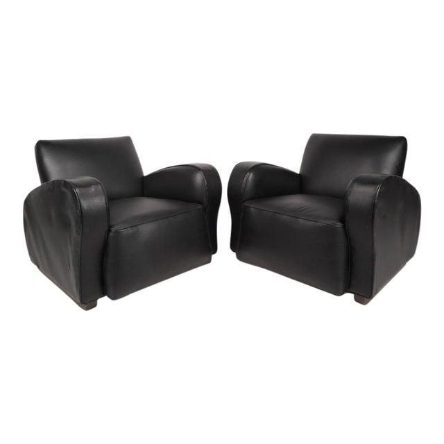 Swell Contemporary Modern Vinyl Lounge Chairs A Pair Machost Co Dining Chair Design Ideas Machostcouk