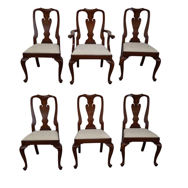Henkel Harris Cherry Wood Queen Anne Chairs - 6 - Image 1 of 10