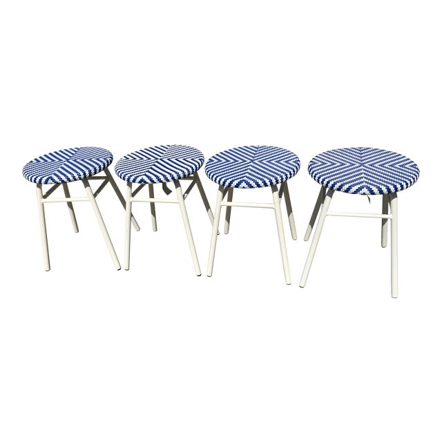 Palecek Abigail Outdoor Stool/Side Table - Set of 4 For Sale