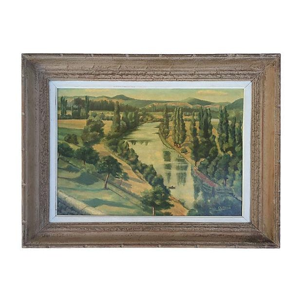 1955 French Landscape Oil Painting - Image 8 of 8