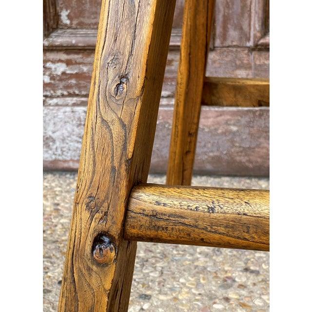 English Saddle Seat or Farm Stool of Elm For Sale - Image 11 of 13
