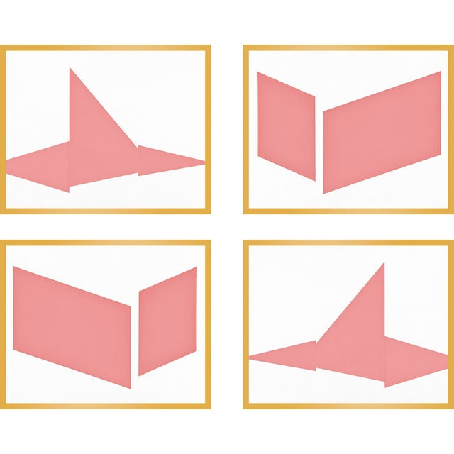 """Contemporary XL """"Compositions in Pink, Set of 4"""" Print by Jason Trotter, 60"""" X 48"""" For Sale - Image 3 of 3"""