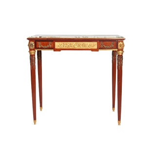 Late 19th Century French Louis XVI Style Mahogany Writing Table For Sale