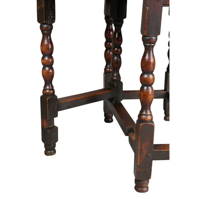 William and Mary Fruitwood Gateleg Table For Sale - Image 4 of 8