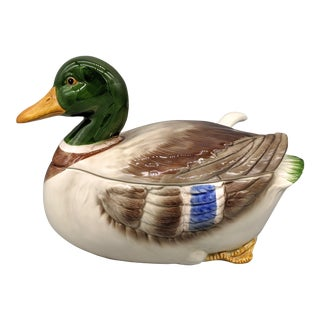 20th Century Duck Soup Tureen With Ladle - 3 Piece Set For Sale