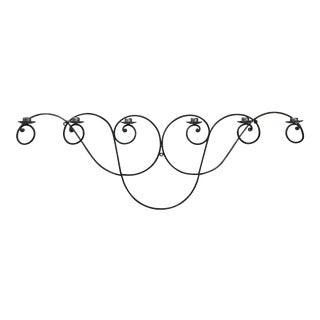 Mexican Wrought Iron 6-Arm Wall Candelabra For Sale