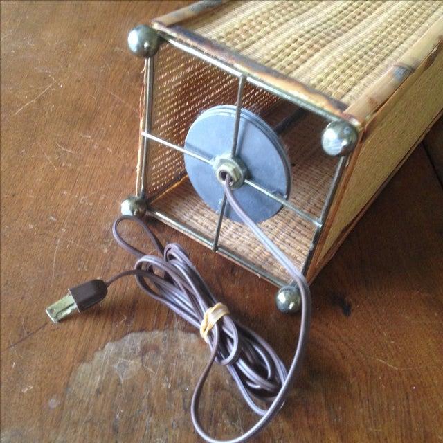 Vintage Rattan Table Lamp - Image 6 of 11