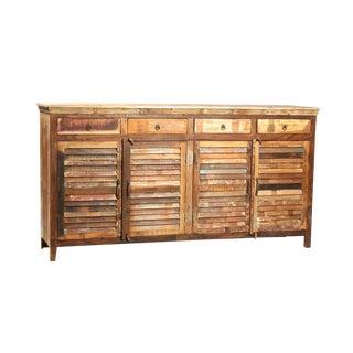 Handmade Reclaimed Wood Sideboard For Sale