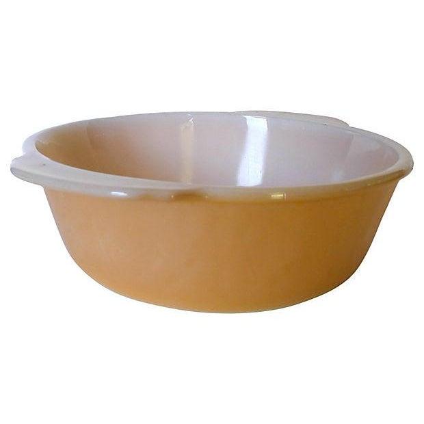 Fireking Vintage Brown & White Mixing Bowl - Image 3 of 3