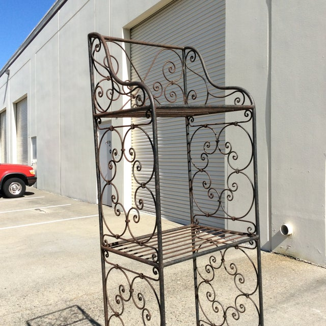 Iron Scrolling Iron Etagere For Sale - Image 7 of 11