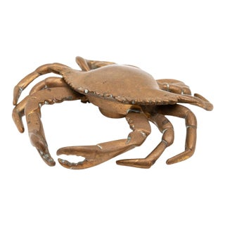 20th Century Bronze Crab Inkwell For Sale