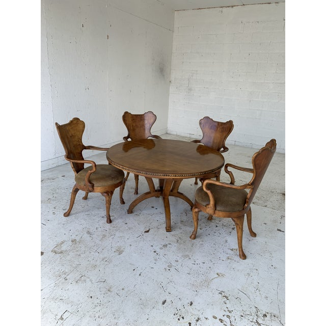 Century for Robb & Stucky Burled Walnut 'Gaudí' Style Dining Set - 5 Pieces For Sale - Image 9 of 11
