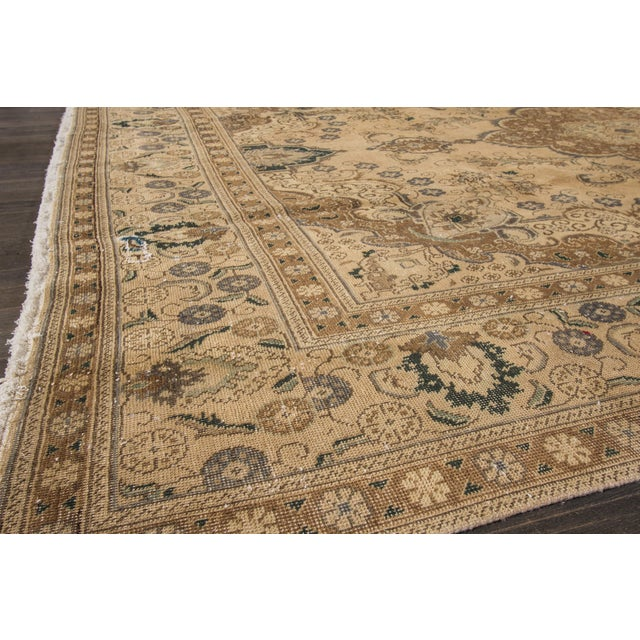 "Apadana Vintage Tabriz Rug - 9'4"" x 12'5"" For Sale - Image 5 of 6"