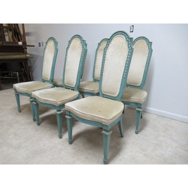 French Vintage Baker Furniture French Regency Dining Side Chairs - Set of 6 For Sale - Image 3 of 11