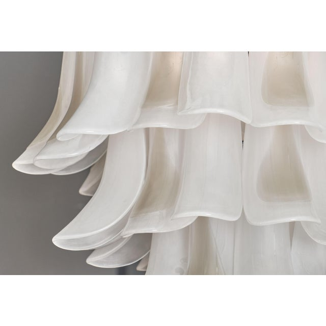 """Metal Murano Glass """"Selle"""" Chandelier For Sale - Image 7 of 10"""