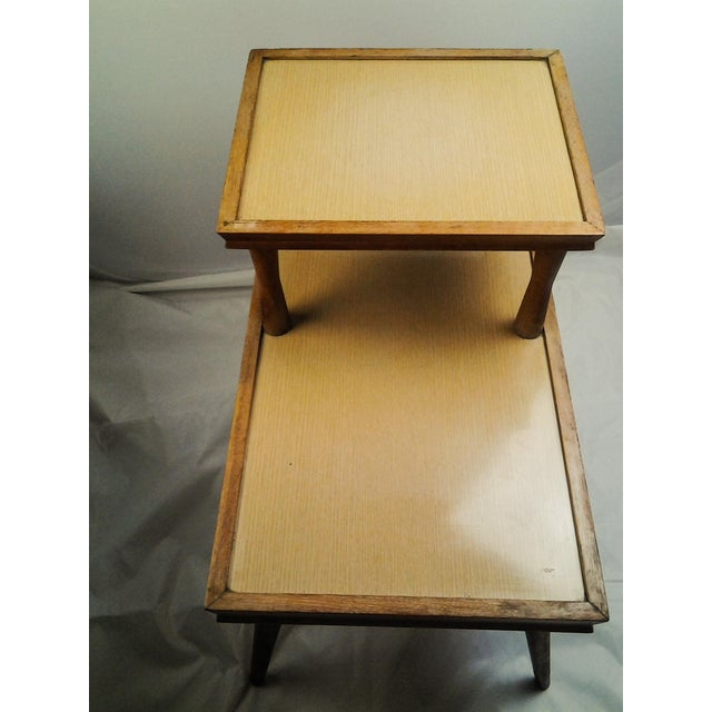 Mid-Century Modern Vintage Mid-Century 2 Tier Side Table For Sale - Image 3 of 6