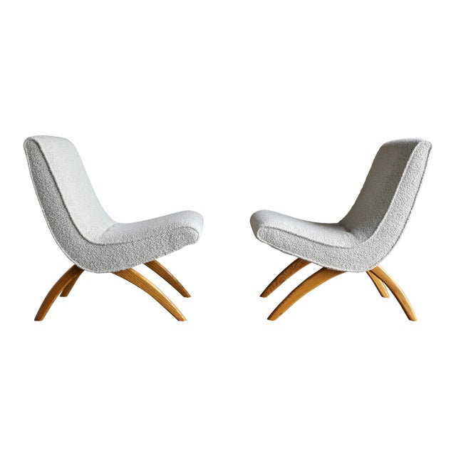 Milo Baughman Scoop Chairs for Thayer Coggin Circa 1955 - a Pair For Sale