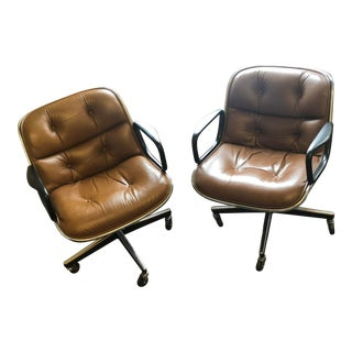 1980s Vintage Charles Pollack for Knoll Executive Chair-a Pair For Sale